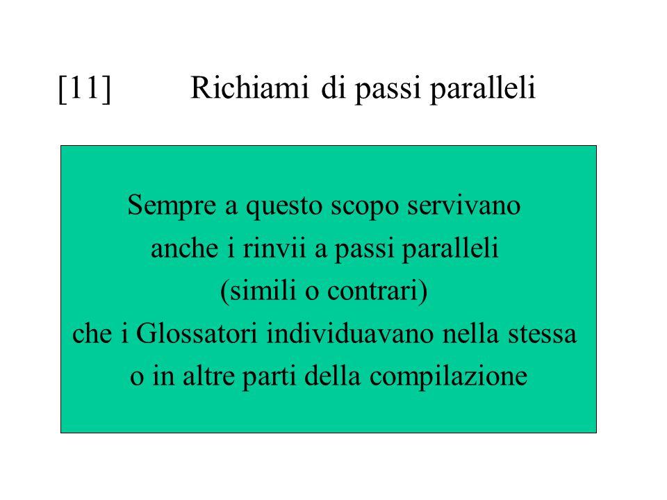 [11] Richiami di passi paralleli